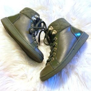 ALDO High Top Leather & Suede Sneakers 💚
